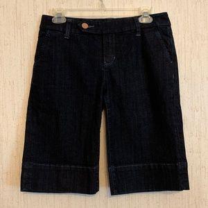 Cabi Lou Bermuda Denim Jean shorts for sale